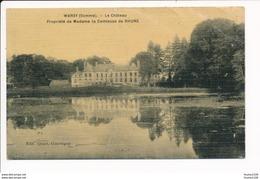 Carte Toilée Et Colorisée De Warsy Le Château Comtesse De Rhune - Other Municipalities