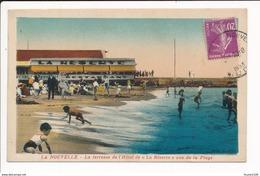 Carte De LA NOUVELLE ( Port La Nouvelle ) Terrasse De L' Hôtel ( Peu Courante En Colorisée )( Format C.P.A. ) - Port La Nouvelle