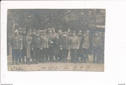 Carte Photo Militaire Avec Officiers Généraux ? à Identifier Format 12 X 7,5 Cm La Carte A été Redécoupée Sur Les Bords - Guerre 1914-18