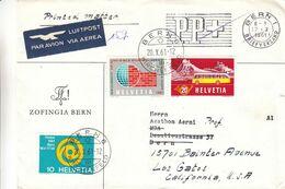 Suisse - Lettre De 1961 - Oblit Bern - Exp Vers Bern - Réexpédié Vers Los Gatos En Californie - Bus - - Schweiz