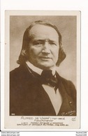 Carte De Romancier Poëte ( écrivain ) Alfred De Vigny  ( Recto Verso ) - Writers