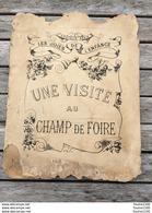 Visite Au Champ De Foire Pains D'épices De Dijon Manège Lutteur Tir à La Carabine Ménagerie Cirque Marchand De Gaufres - Libri, Riviste, Fumetti