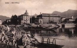 CPA - COMO - HOTEL PLINIUS ... (bateaux) - Edition Piatti - Como