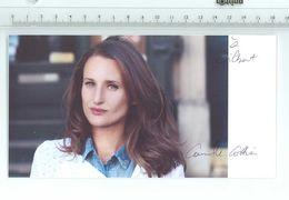 ACTRICE - Camille COTTIN..Signature...Autographe Véritable.....(Format 18.5 X 10 Cm) - Handtekening