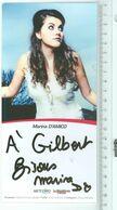 Marina D'AMICO (Chanteuse)....Signature...Autographe Véritable.....(Format 21 X 10 Cm) - Handtekening