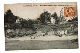 CPA-Carte Postale -France-Pornic-Plage De L'Anse Aux Lapins Et Chalets De Gourmalon 1928  VM19836 - Pornic