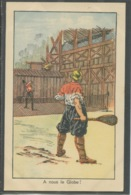 10798 Partie De Tennis Avec Un Globe Entre Allemagne Et Autriche - Weltkrieg 1914-18