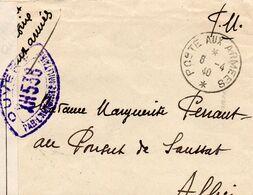 """L-  * P.A.A *- Cachet: Marque De Censure : """" XH 538 """" - - Guerra Del 1939-45"""