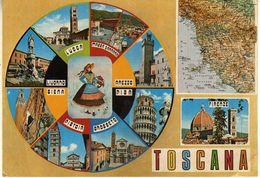 Italy - Toscana 1979,map.girl - Italie