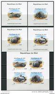 Mali 1998. Michel #1974/77-Klb.-IIB+4 Bl.#118-B MNH/Luxe. WWF. Animals. North African Porcupine (Ts02/12) - Unclassified