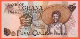GHANA -  5 Cédis  Du  02 01 1977  - Pick 15b - Ghana
