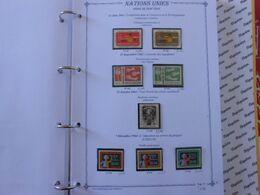 NATIONS-UNIES SIEGE DE NEW-YORK YT 125/132 Vente Par Page D'album (timbres Seuls)** - New York – UN Headquarters
