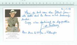 Geneviève De FONTENAY - Présidente Du Comité Miss France...Signature...Autographe Véritable.....(Format 10 X 21 Cm) - Handtekening