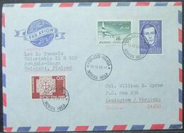 Finland - Cover To USA 1963 Pohjois-Haaga - Briefe U. Dokumente