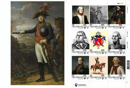 Ukraine 2019, Napoleon Bonaparte Marshal Jean Mathieu Philibert Sérurier, Sheetlet Of 9v - Ucrania
