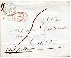 Cachet 14 VARENNES EN ALLIER,L.S.C. Du 15/12/47. - 1801-1848: Vorläufer XIX