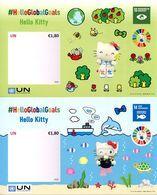 ONU Vienne 2020 - HelloGlobalGoals Hello Kitty - Objectifs Mondiaux 13 Et 14 ** - Blocks & Sheetlets