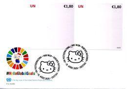 ONU Vienne 2020 - HelloGlobalGoals Hello Kitty - Objectifs Mondiaux 13 Et 14 FDC - FDC