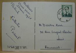 CE. 58. Oblitération étoiles (relais) Willaupuis Sur 2F Vert  N°106, Oreille Déformée;  Sur CP Bonne Année - Postmarks With Stars