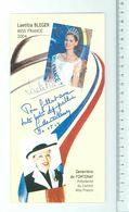 Laetitia BLEGER, Miss France 2004 Et Geneviève DE FONTENAY - Signature...Autographe Véritable. - Handtekening