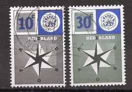 Pays Bas - Netherlands - Niederlande 1957 Y&T N°678 à 679 - Michel N°704 à 705 (o) - EUROPA - Gebraucht