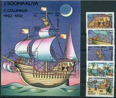 Somalia 1992  Christopher Columbus Mi № 448 - 452 + S/S Mi 27А  MNH/** - Christopher Columbus