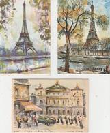 20 / 8 / 81. -   PARIS. ENAQUARELLE  -7  CPM. DIVERSES - Toutes Scanées - Ansichtskarten