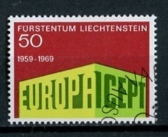 Liechtenstein 1969 Y&t N°454 - Michel N°507 (o) - 50r EUROPA - Liechtenstein