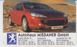 Calendar 2006 Autohaus Miedaner GmBh Cham Rattenburg Straubing Peugeot 85/55 Mm - Calendari