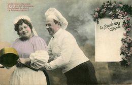 Bergeret * 1908 * Le Printemps Chante ! * Cuisinier Cuisto Cook - Bergeret
