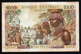 Etats De L'Afrique Equatoriale. Billet De 1000F N° 5b Banque Centrale 1961/1972. - Kameroen