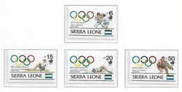 SIERRA LEONE ( Série Complète ) JEUX OLYMPIQUES DE SEOUL 1988 - Sommer 1988: Seoul