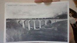 VEDANO OLONA PONTE FERROVIE NOR CO Passaggio Treno A Vapore-viaggiata 1950 .fp-mt 6423 - Varese