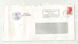 Lettre , 86 POITIERS R.P. Flamme:  Foires Et Marchés ,1985 , Inspection Académique , Service Des Examens, Frais Fr 1.55 - Marcofilie (Brieven)