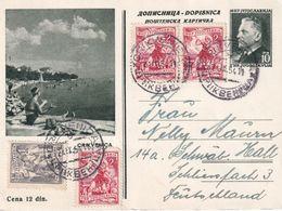 YOUGOSLAVIE 1954  ENTIER POSTAL/GANZSACHE/POSTAL STATIONARY  CARTE DE CRIKVENICA - Postal Stationery