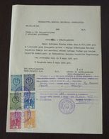 Yugoslavia 1959 Serbia Local SABAC Revenue Fiscal Stamps On Document BD187 - 1945-1992 República Federal Socialista De Yugoslavia