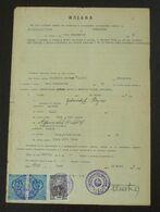Yugoslavia 1959 Serbia Local SABAC Revenue Fiscal Stamp On Document BD189 - 1945-1992 Socialist Federal Republic Of Yugoslavia