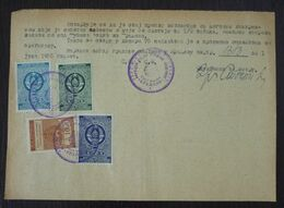 Yugoslavia 1955 Serbia Local RANKOVICEVO Revenue Fiscal Stamp On Document BD196 - 1945-1992 República Federal Socialista De Yugoslavia