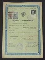 Yugoslavia 1956 Serbia Local RANKOVICEVO Revenue Fiscal Stamp On Document BD197 - 1945-1992 República Federal Socialista De Yugoslavia