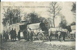 ETINEHEN     ( SOMME )   Ravitaillement De Viande  Fraîche Par Autobus Parisien - Militari
