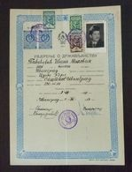 Yugoslavia 1957 Serbia Local IVANGRAD Revenue Fiscal Stamps On Document BD207 - 1945-1992 Socialist Federal Republic Of Yugoslavia