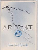 Air France Dans Tous Les Ciels Carte Publicitaire Publicité Aviation - Aviación