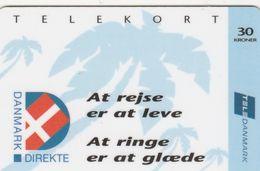 """Denmark, CR001Ca, 30 Kr. """"At Rejse Er At Leve"""", 2 Scans.   CN : 25046418 - Denmark"""
