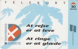 Denmark, CR 001Ab, At Rejse Er At Leve 1, Only 1000 Issued, 2 Scans.  Nr. : 25026261 - Denmark