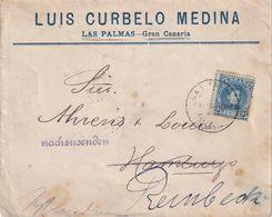 ESPAGNE 1902 LETTRE DE LAS PALMAS - 1889-1931 Royaume: Alphonse XIII