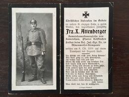 Sterbebild Wk1 Ww1 Bidprentje Avis Décès Deathcard RIR10 BRIEULLES SUR MEUSE Block 3 Grab 332 Minenwerfer Aus Sametsham - 1914-18