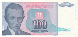 Yougoslavie : 100 Dinara 1994 UNC - Joegoslavië