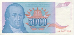 Yougoslavie : 5000 Dinara 1994 UNC - Joegoslavië