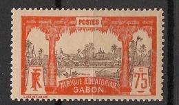 Gabon - 1910-18 - N°Yv. 62 - Libreville 75c Rouge-orange - Neuf Luxe ** / MNH / Postfrisch - Gabon (1886-1936)