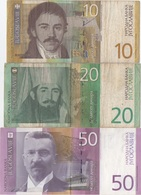Yougoslavie : Série De 3 Billets : 10 - 20 - 50 Dinara An 2000 (état : Mauvais-mauvais-TB) - Joegoslavië